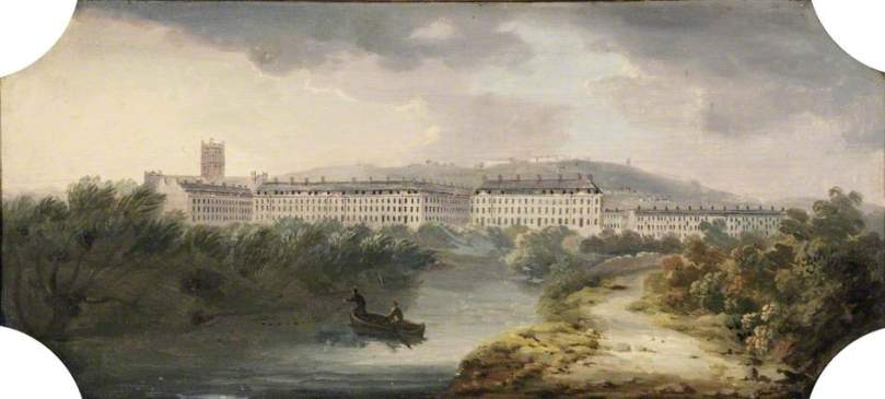 South Parade and Abbey Church, Bath by Joseph Sheldon (c) Victoria Art Gallery; Supplied by The Public Catalogue Foundation